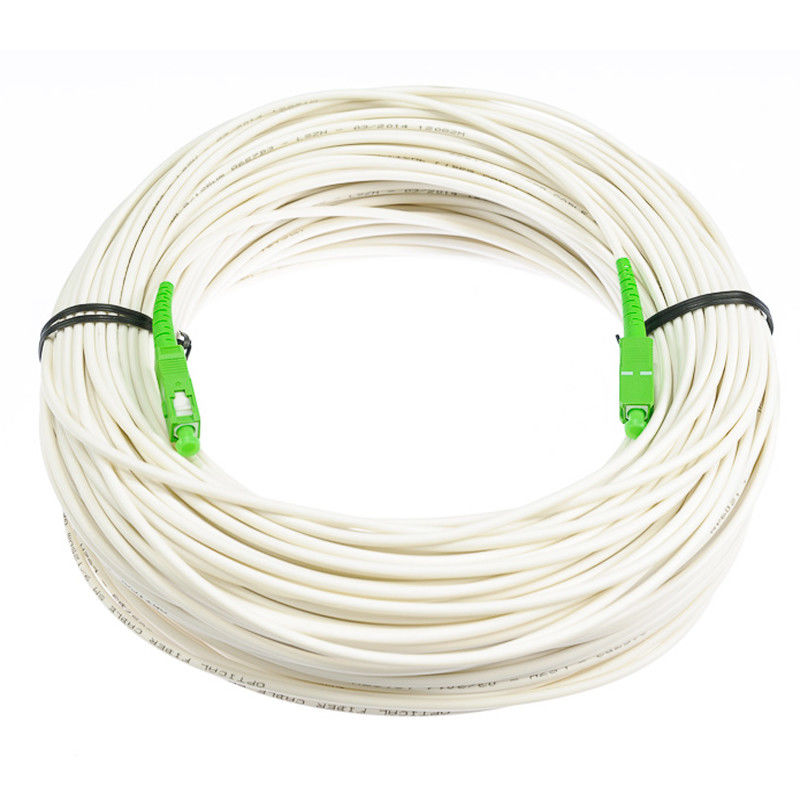 Anti - Bending Fiber Optik Kabel Single Mode Warna Putih Dengan Bahan LSZH