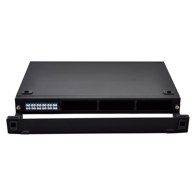 1U Rack Mountable FHD Fiber Optic Patch Panel Holds Up To 4x MTP-24 Cassettes