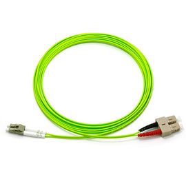 OM5 1 M Duplex Fiber Optic Patch Cable LC UPC - SC PVC Multi Mode